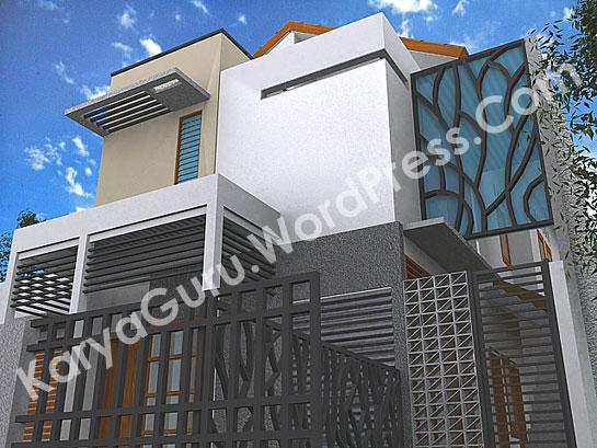3D Modeling Desain Rumah Di Cempaka Putih Jakarta Pusat