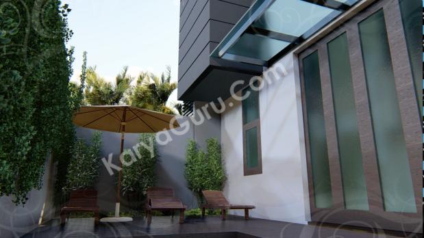 Area berjemur Kolam Renang Desain Rumah Minimalist