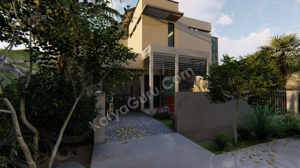 Jasa Desain Rumah Minimalist 3D Rendering Modeling Animation Architecture Exterior