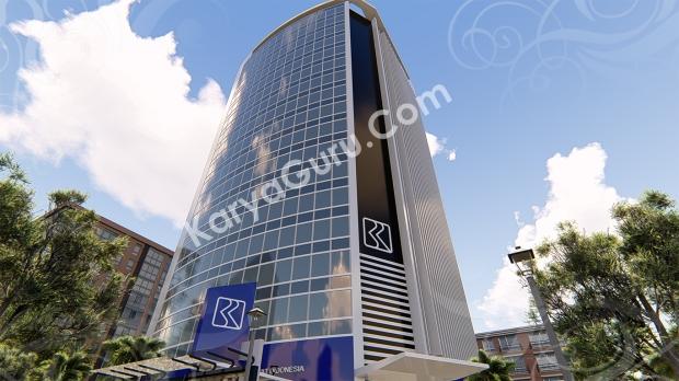 3D Modeling Rendering BRI Building di daerah Jakarta