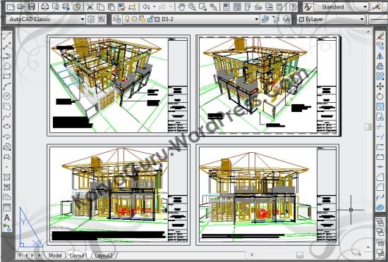 3D AutoCAD Rumah