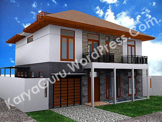ext_13D Modeling Rumah Tinggal Bertingkat 2Lantai di daerah Bogor
