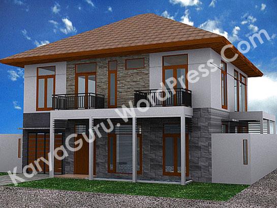 3D Modeling Rumah Tinggal Bertingkat 2 Lantai di daerah Bogor