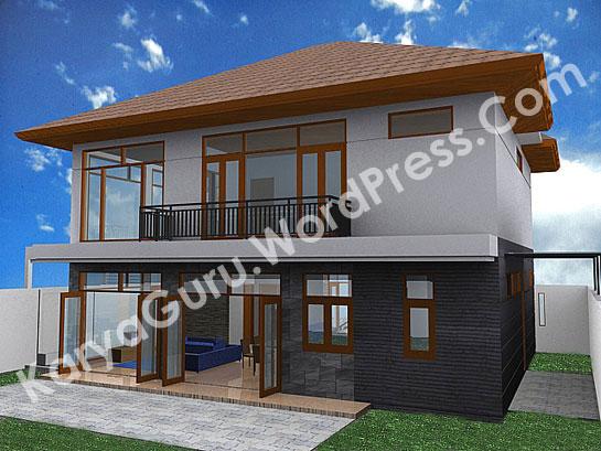 3D Modeling Rumah Tinggal 2 Lantai di daerah Bogor