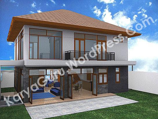 3D Modeling Rumah Tinggal 2 Lantai di Bogor