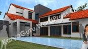 3D Modeling Desain Rumah Tinggal Bertingkat 2 Lantai