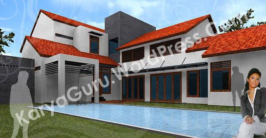 ext_43D Modeling Desain Rumah Tinggal Bertingkat 2 Lantai