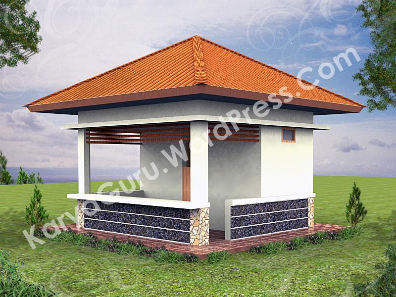 Pra Desain Renovasi Pos Jaga Smkn  Jakarta Karyaguru Center