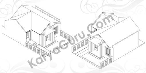 Gambar LKS AutoCAD 3 Dimensi