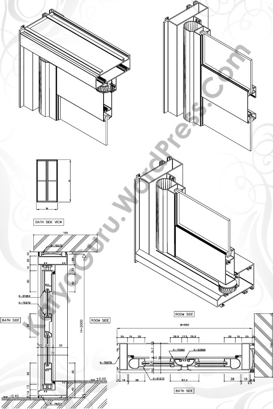 3d Modeling Folding Door Karyaguru Center