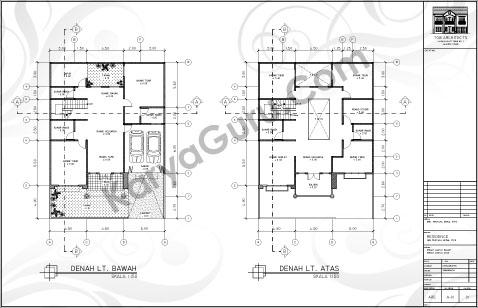 Denah Rumah Ukuran 15x20