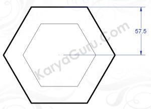 polygon circumscribed 57.5