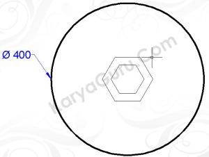 circle diameter 400