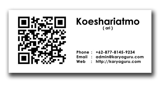 Name Card Design with QR Code Alt1