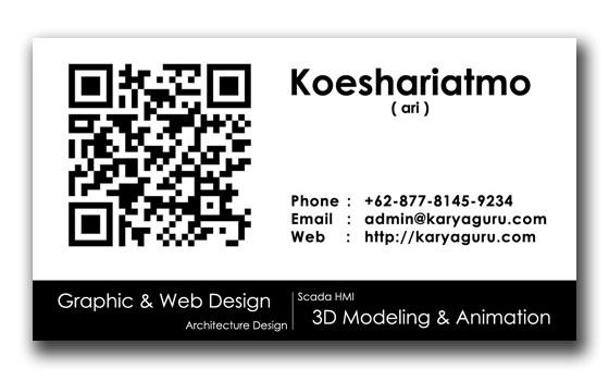 Name Card Design with QR Code Alt2