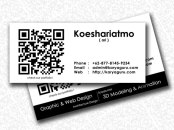 Name Card Design with QR Code