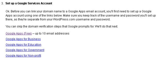 Set up Google Apps (Free)