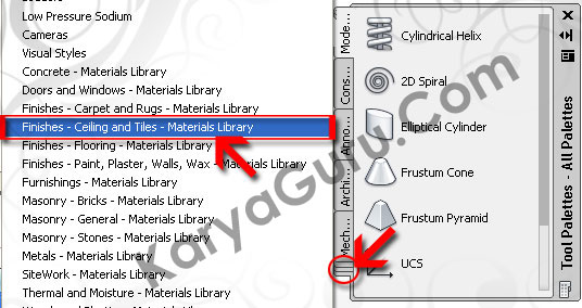 04.Tool Palettes – Materials LibraryAutoCAD