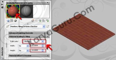 Scaling & Tiling - Material Lantai AutoCAD