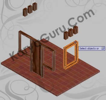 Apply Material to Object - Kusen AutoCAD