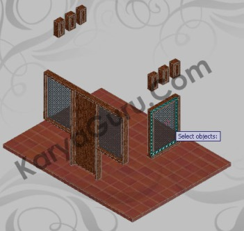 Apply Material to Object - Kaca AutoCAD