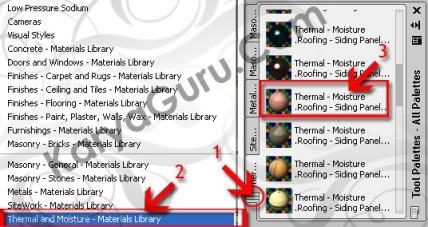 Material Atap AutoCAD