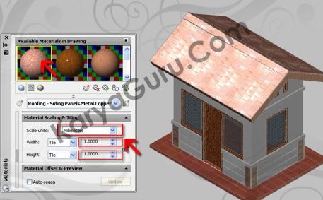 Scaling & Tiling - Atap AutoCAD