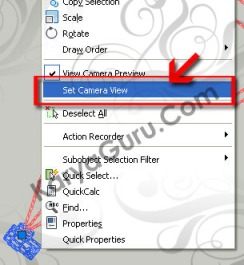 Set Camera View AutoCAD