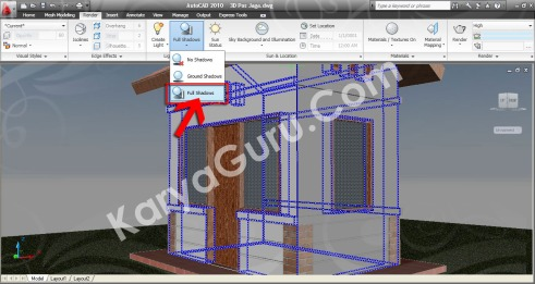 Full Shadows AutoCAD