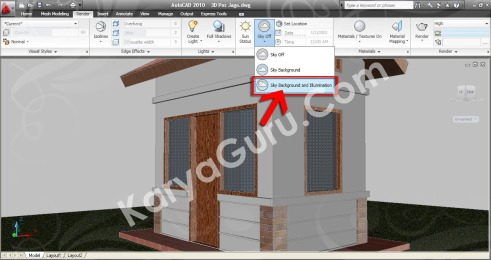 Sky Background and Illumination AutoCAD