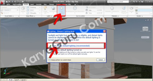 Sun Status - Turn off the default lighting AutoCAD