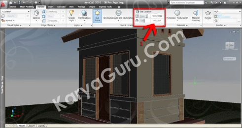 Set Location Date Time AutoCAD