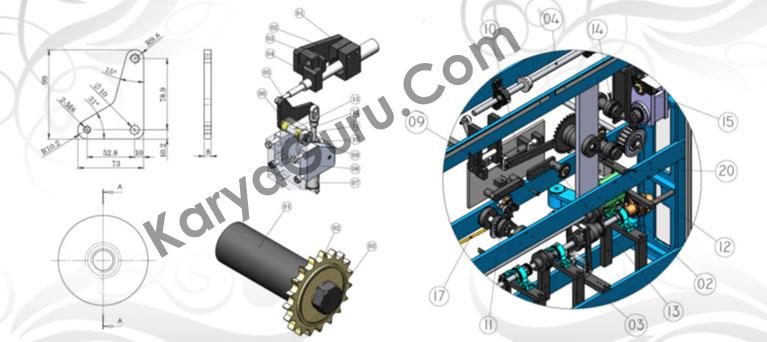 Kursus AutoCAD Mekanikal 3 Dimensi - Modeling & Rendering