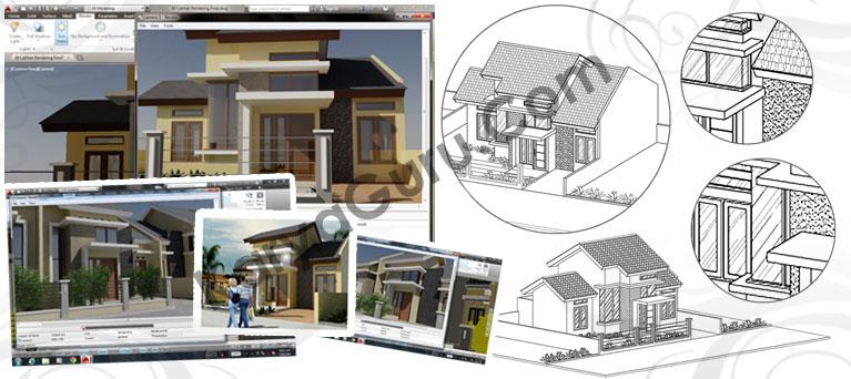 Kursus AutoCAD Arsitektur 3 Dimensi - Modeling & Rendering