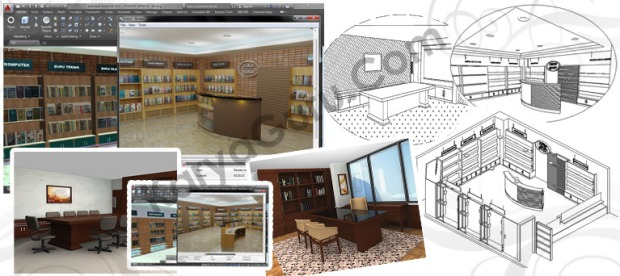 Kursus AutoCAD Interior 3 Dimensi - Modeling & Rendering
