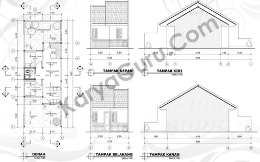 tutorial autocad gambar kerja rumah tinggal karyaguru center