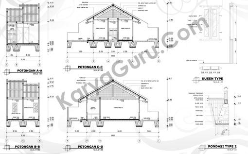 Tutorial AutoCAD Gambar Potongan Detail Rumah Tinggal