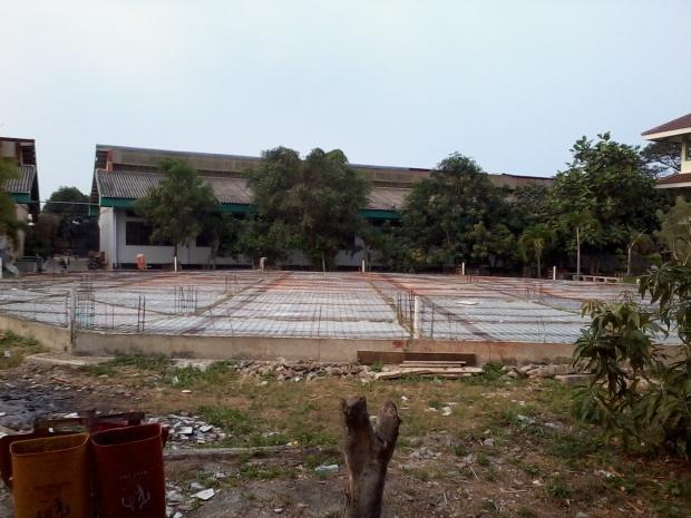 Pelaksanaan Pemabngunan Masjid SMKn 56 jakarta