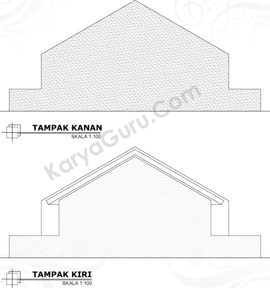 HASIL AKHIR TAMPAK SAMPING KANAN & KIRI RUMAH TINGGAL