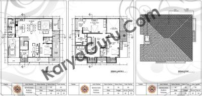 Tugas Denah Rumah 2 Lantai