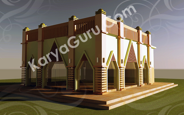kursus render 3d model autocad