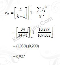 05. Uji Reliabilitas Instrumen Variabel X1