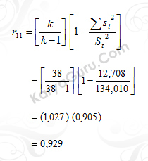 05. Uji Reliabilitas Instrumen Variabel X2