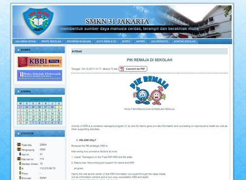 artikel online web smkn 31 jakarta