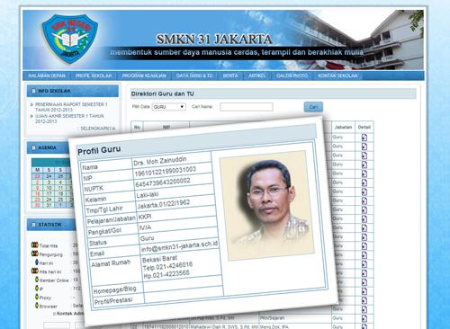 Data Profil Guru dan TU online smkn 31 jakarta