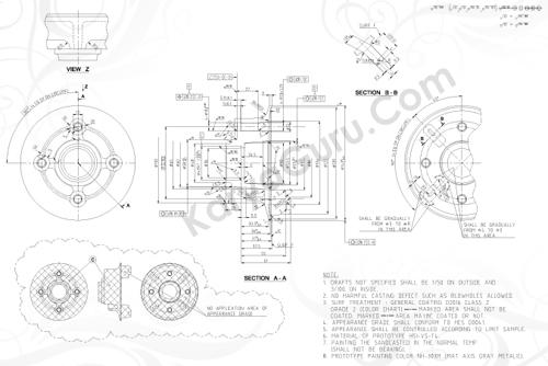Flange - Kursus AutoCAD 2D Mechanical