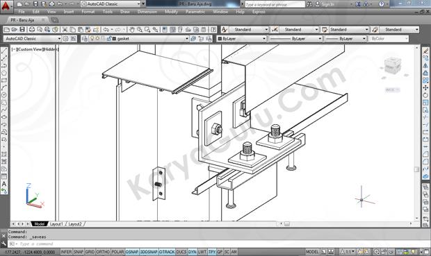 Kursus AutoCAD 3D Curtainwall Jakarta