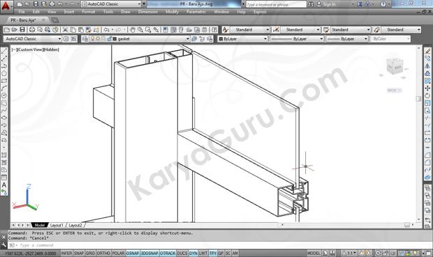 Kursus AutoCAD 3D Model Curtainwall Jakarta