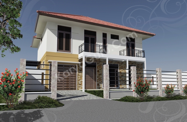 Render AutoCAD Exterior Edit Photoshop