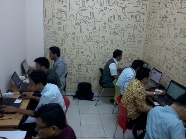 Suasana sesi 1 Autodesk Certification Exam
